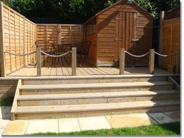 Timber Decking Fencing Gloucester Stroud Bristol - Garden decking rope